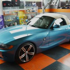 BMW Z4 Cabrio Pełna korekta lakieru Zymol, czyszczenie + impregnacja dachu cabrio